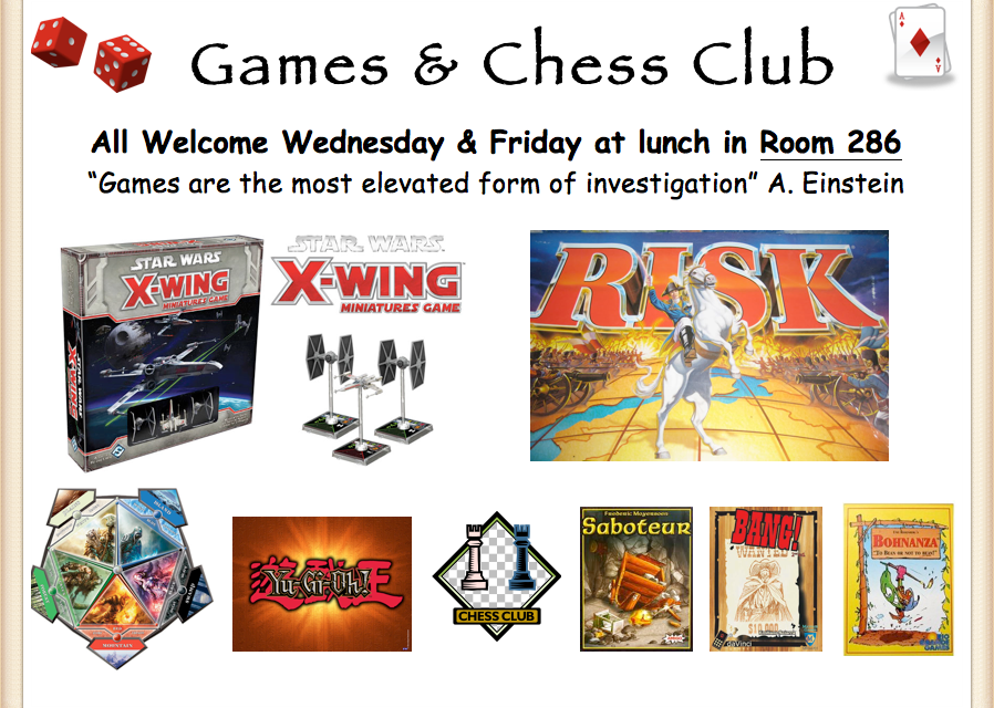 High School Chess and Games Club