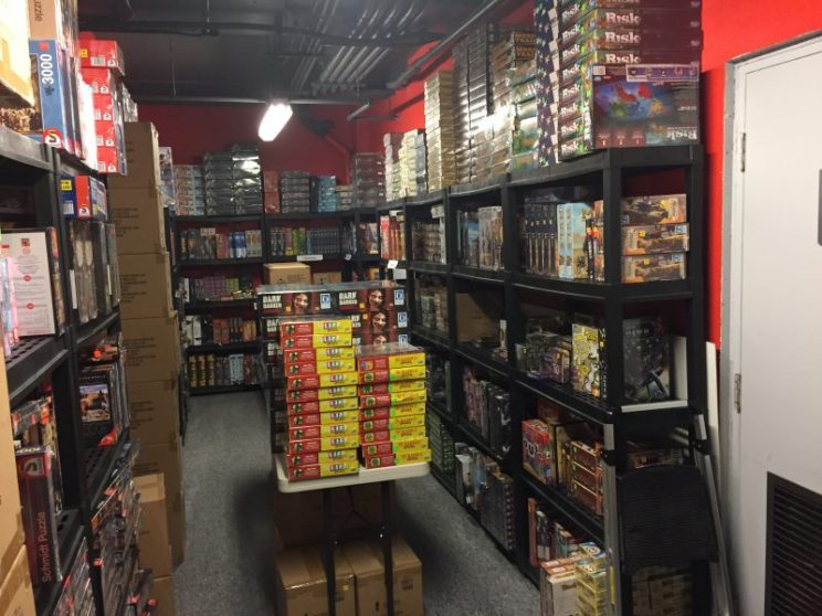 Rows of board games