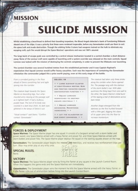 Space Hulk Mission 1 Page 1