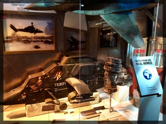 Spy Museum James Bond Villain Goldeneye Eurocopter Model