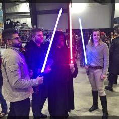 Ottawa Comiccon Cosplay Light Saber Kylo Ren