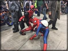 Ottawa Comiccon Cosplay Spiderman Deadpool
