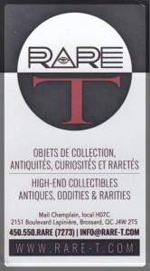 Ottawa Comiccon RateT Business Card