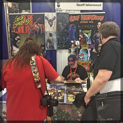 Ottawa Comiccon Artist Alley Geof Isherwood