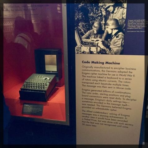Spy Museum Washington WWII Enigma Machine