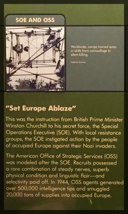 Spy Museum Washington WWII SAS Set Europe Ablaze