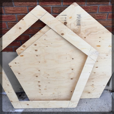 Build Game Table Pentagon Cut Out