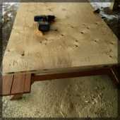 Build Game Table Frame Rectangle Double Ply