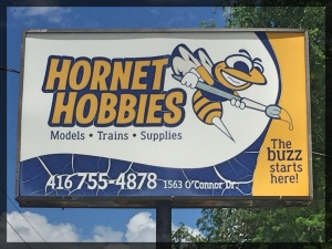 Hornet Hobbies Front Sign