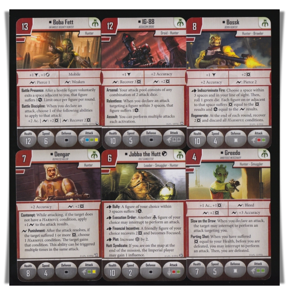 Imperial Assault Mercenary Villains