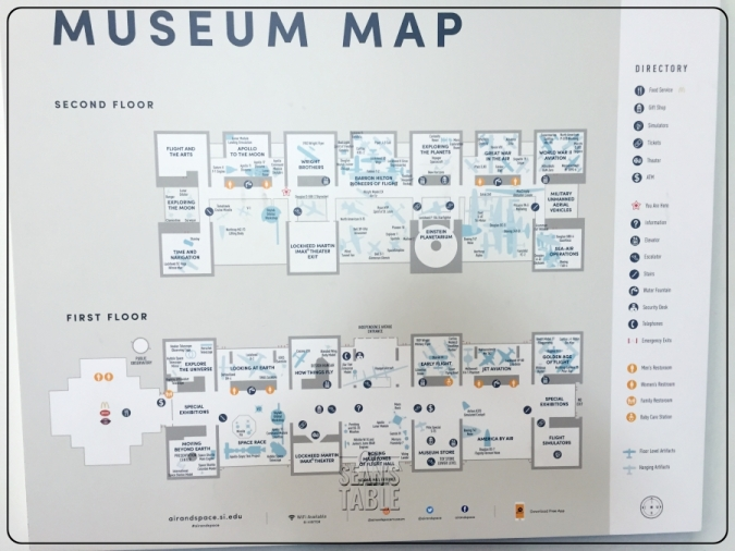 National Air and Space Museum Map