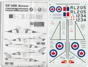 Decals Avro Arrow