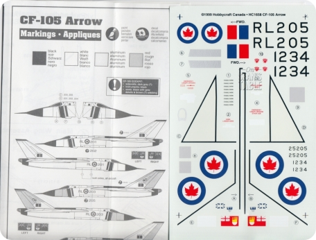 Decals Avro Arrow