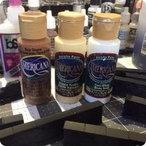 3 colour cheap craft paint scheme