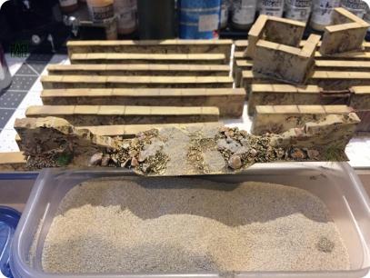 Adding fine sand