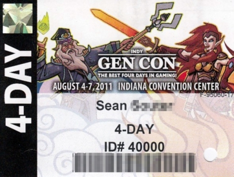 GenCon 2011 Badge