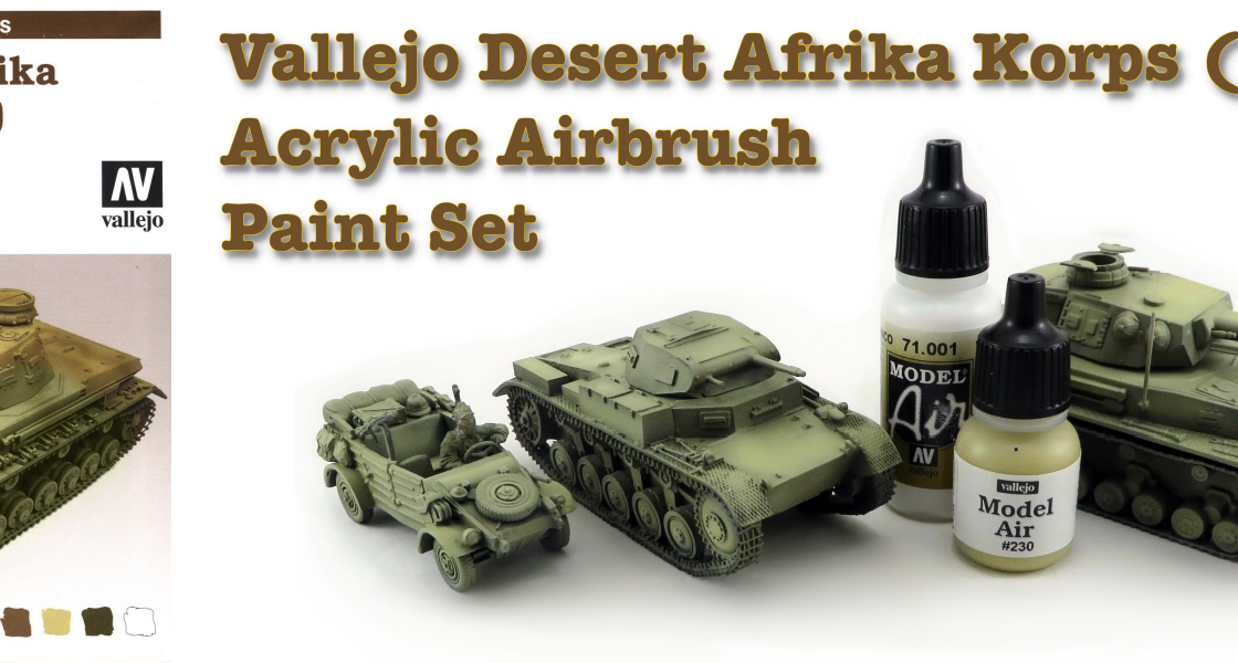 Vallejo DAK Airbrush Paint Set Featured Image