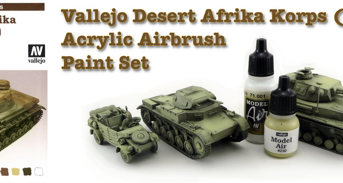 Vallejo DAK Airbrush Paint Set Featured Image