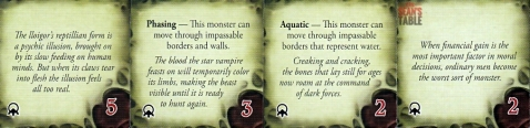 Streets of Arkham Monster Tokens Back