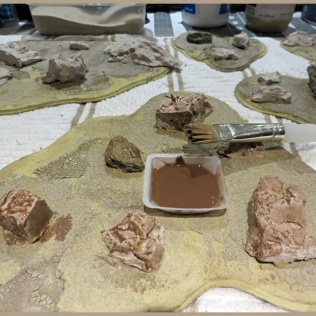 Warlord Sarissa Modular Terrain Board Wash