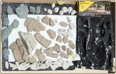 Warlord Sarissa Modular Terrain Hydrocal Cast Rocks