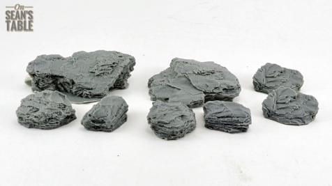 Warlord Sarissa Modular Terrain Resin Rocks
