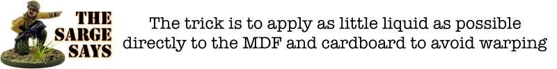 Warlord Sarissa Sarge Says Liquid MDF