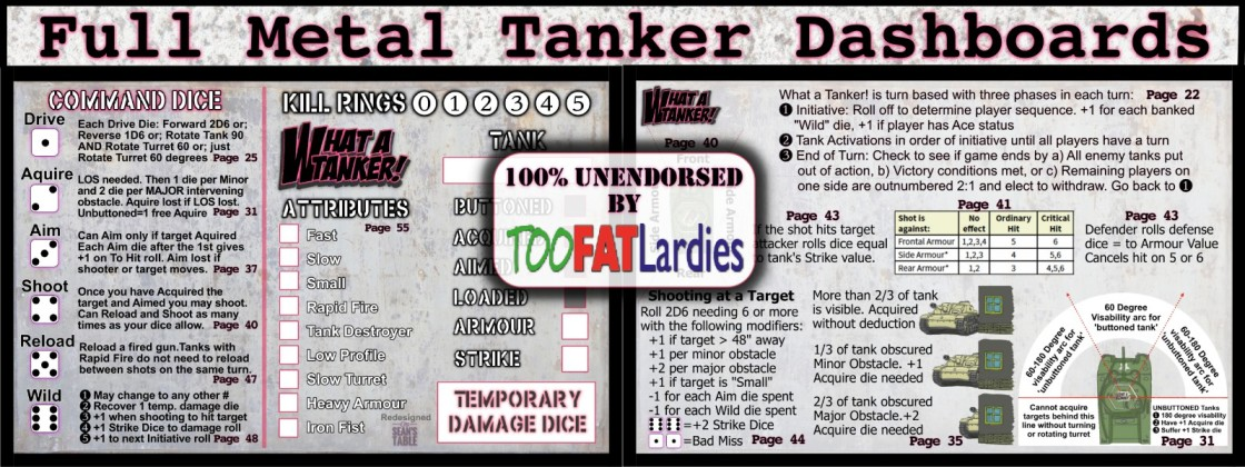 What a Tanker Too Fat Lardies Dashboards