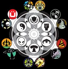 Monsterpocalypse Agenda Faction Icons