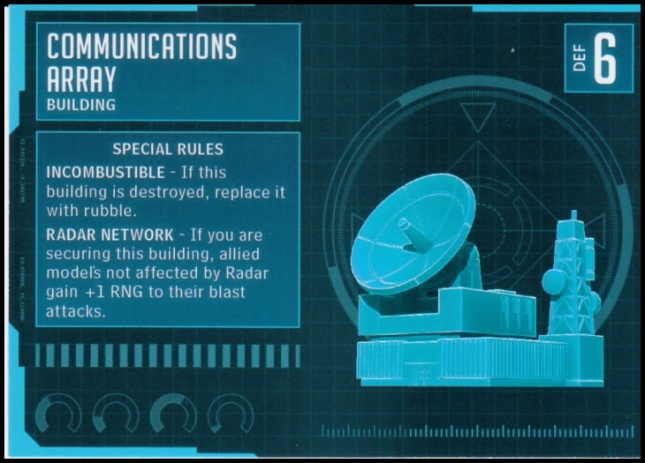 Communications Array Stat Card MonsterPocalypse