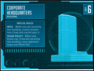 Corporate Headquarters Stat Card MonsterPocalypse