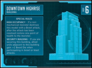 Downtown Highrise Stat Card MonsterPocalypse