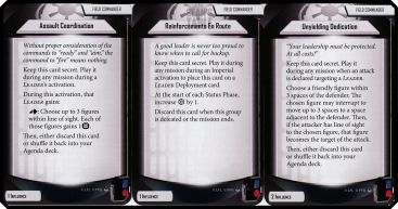 imperial assault heart of the empire influence field commander cards