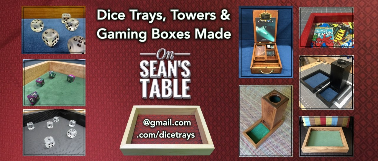 Dice Trays Towers and Gaming Boxes