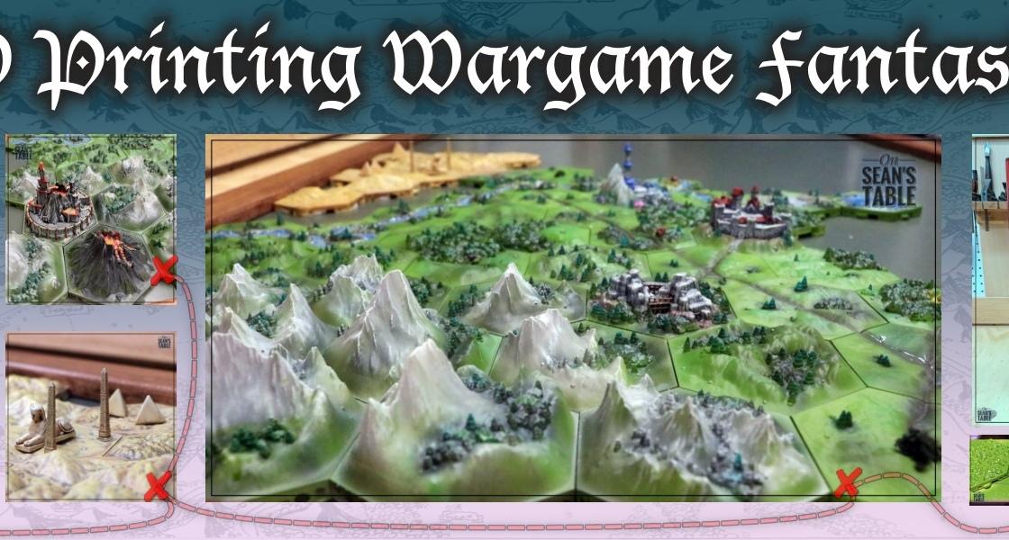 Hexton Hills 3D Print Wargame Campaign Tiles
